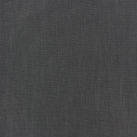 Washed Linen (135cm) Fabric - Charcoal Grey x 10cm