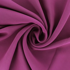 Tissu mousseline crêpe - Prune x 50cm