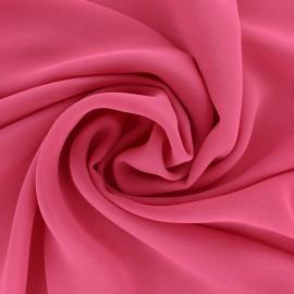 Tissu mousseline crêpe - Fuchsia x 50cm