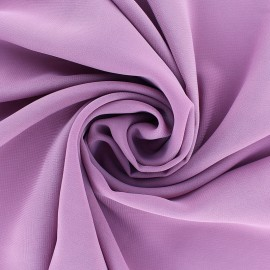 Tissu mousseline crêpe - Lilas x 50cm