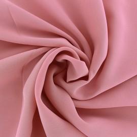 Tissu mousseline crêpe - rose quartz x 50cm