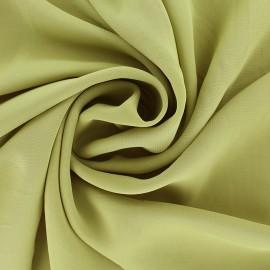 ♥ Coupon 70 cm X 150 cm ♥ Tissu mousseline crêpe - vert olive