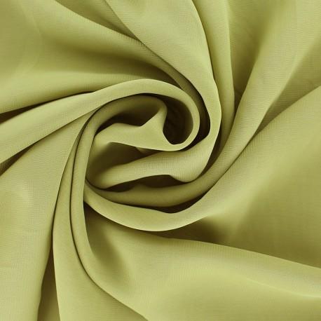 Tissu mousseline crêpe - vert olive x 50cm