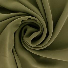 Tissu mousseline crêpe - vert kaki x 50cm