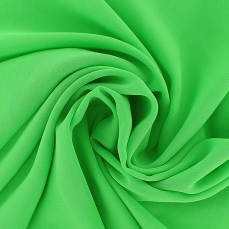 Crepe Muslin Fabric - lime green x 50cm