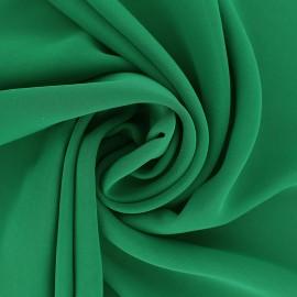 Tissu mousseline crêpe - vert pomme x 50cm