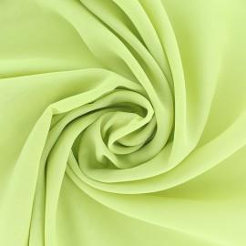 Tissu mousseline crêpe - vert sapin x 50cm