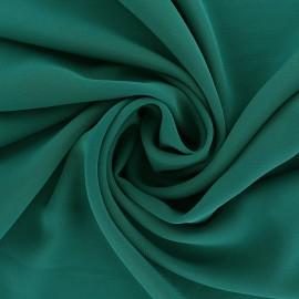 Tissu mousseline crêpe - vert émeraude x 50cm