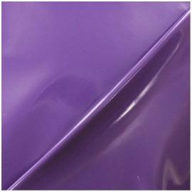 ♥ Coupon 50 cm X 145 cm ♥  Interlock Vinyl Fabric - Purple