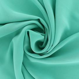 Tissu mousseline crêpe - bleu Mers du sud x 50cm