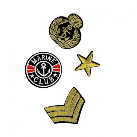 Naval Army Iron-On Patch (4 Pack)