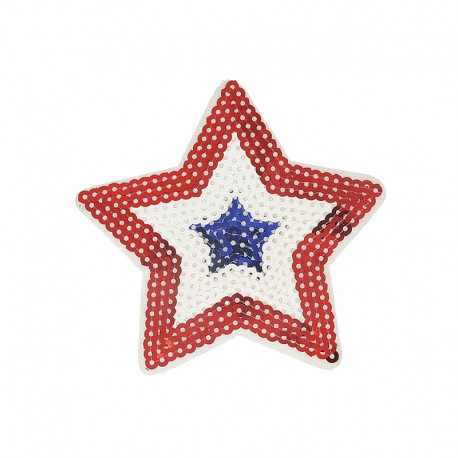 National Day Iron-On Patch - Tricolor Star