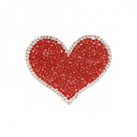 Thermocollant Coeur Glamstar - Rouge