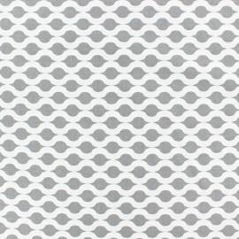 Tissu popeline Stenzo Croisette - blanc/gris x 10cm