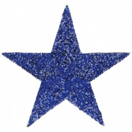 Thermocollant Étoile Sequin XXL - Bleu