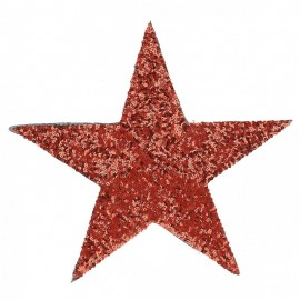 XXL Sequin Star Iron-On Patch - Red