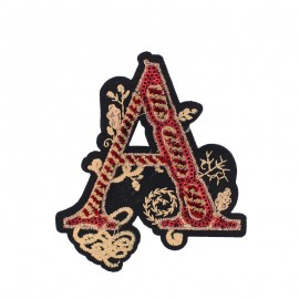 Fancy A Letter Iron-On Patch - Red