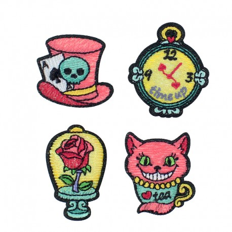 Alice in Wonderland Iron-On Patch (4 Pack)