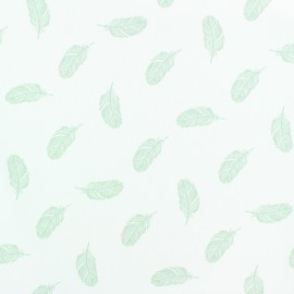 Poplin Cotton fabric - Grey Plumette x 10cm
