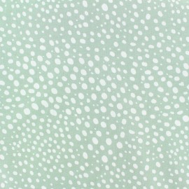 Poplin Cotton fabric - white/green Droplet x 10cm