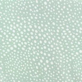 Tissu popeline Stenzo Gouttelette - blanc/vert x 10cm