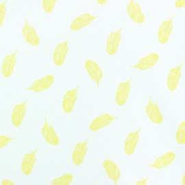 Poplin Cotton fabric - yellow Plumette x 10cm