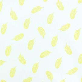 Tissu popeline Stenzo Plumette - jaune x 10cm