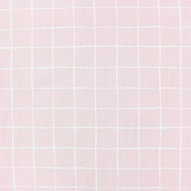 Tissu popeline Stenzo Carreaux - jaune x 10cm