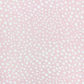 Poplin Cotton fabric - white/yellow Droplet x 10cm