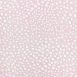 Tissu popeline Stenzo Gouttelette - blanc/jaune x 10cm