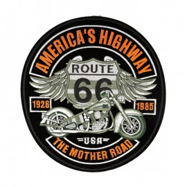 XXL America's Highway Iron-On Patch - Black