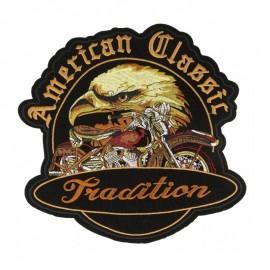 XXL American Classic Iron-On Patch - Black