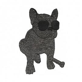 Écusson Rock Star Bouledogue XL - Noir