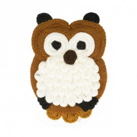 XL Woolen Owl Sewing Patch - Brown