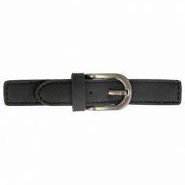 Faux Leather Kilt Strap with Buckle - Black Enola