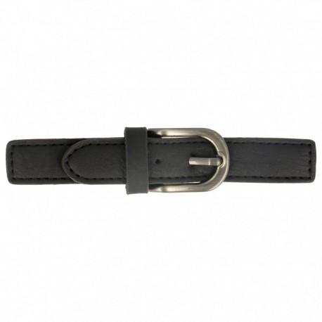 Faux Leather Kilt Strap with Buckle - Black Enola