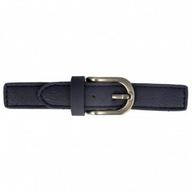 Faux Leather Kilt Strap with Buckle - Navy Enola