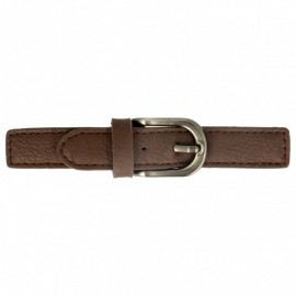 Faux Leather Kilt Strap with Buckle - Brown Enola