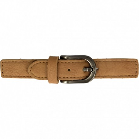 Faux Leather Kilt Strap with Buckle - Camel Enola