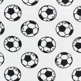 Stenzo Jersey cotton fabric - white Football x 10cm