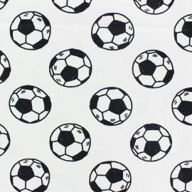 Tissu coton jersey Stenzo Football - blanc x 10cm
