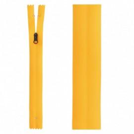 20 cm Invisible Closed Bottom Zipper - Yellow Waterproof