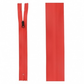 20 cm Invisible Closed Bottom Zipper - Red Waterproof