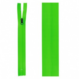 20 cm Invisible Closed Bottom Zipper - Neon Green Waterproof
