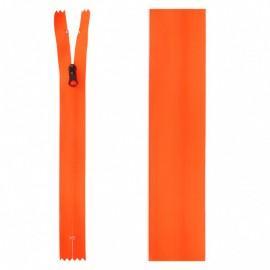 20 cm Invisible Closed Bottom Zipper - Neon Orange Waterproof
