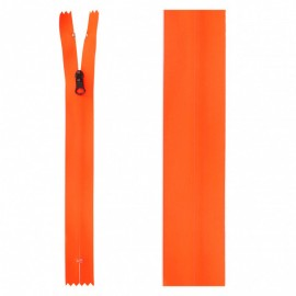 Fermeture Non Séparable Waterproof 20 cm - Orange Fluo