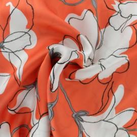 ♥ Coupon 210 cm X 140 cm ♥ Satiny Viscose Fabric - Red Armande