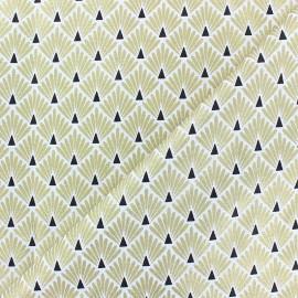 Tissu coton cretonne Ecailles dorées - doré x 10cm