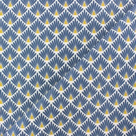 Cretonne cotton Fabric Ecailles dorées - gold x 10cm