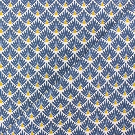 Cretonne cotton Fabric Ecailles dorées - gold x 10cm